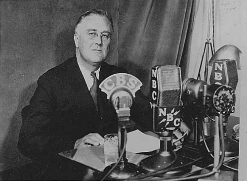 analysis of roosevelts first fireside chat Franklin delano roosevelt: master communicator during his first term as president, roosevelt passed he delivered what became known as fireside chats to the nation, which were intended to transform the bad times into good ones.